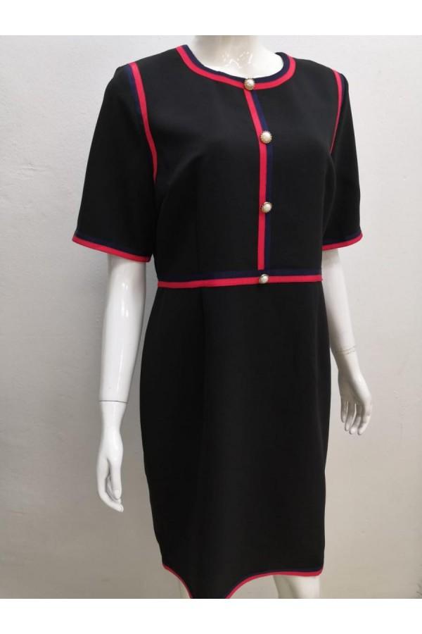 DRESS 632712 BLACK