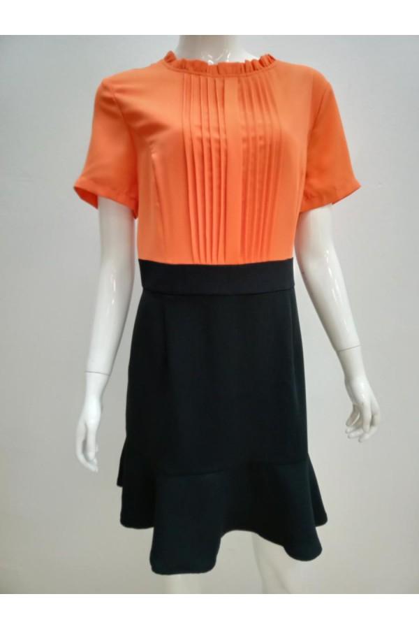 DRESS 9609 ORANGE