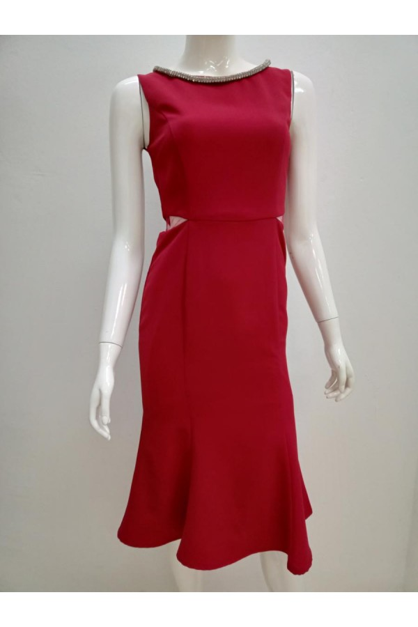 DRESS 6536 MAROON