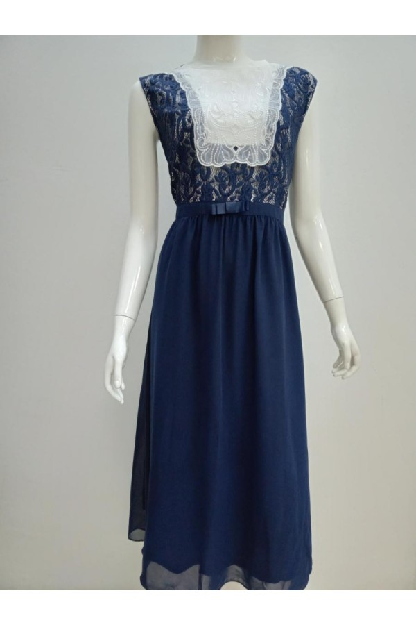 DRESS 15328 BLUE