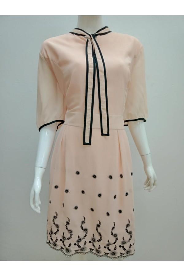 DRESS 18549 PEACH