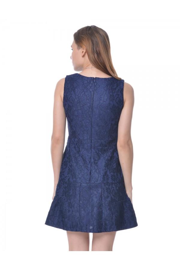 Dress in Blue Lace