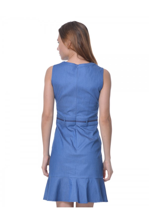 Sleeveless in Blue With Ribbon