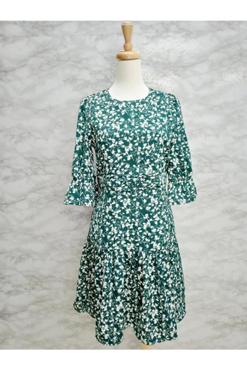 DRESS 637119 GREEN