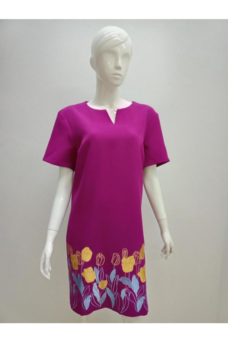 DRESS 21990 PURPLE