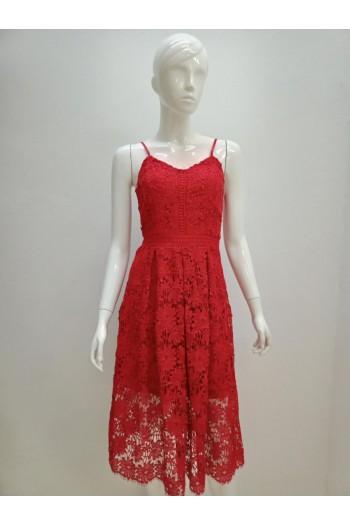 DRESS L065 RED