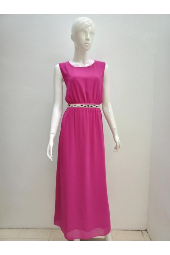 LONG DRESS 16091 PINK