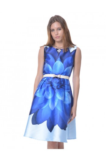 Classic Dress in Royal Blue