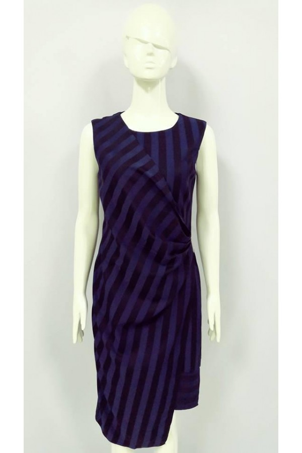 GRAYCE STRIPE DESIGN DRESS 22012 BLUE