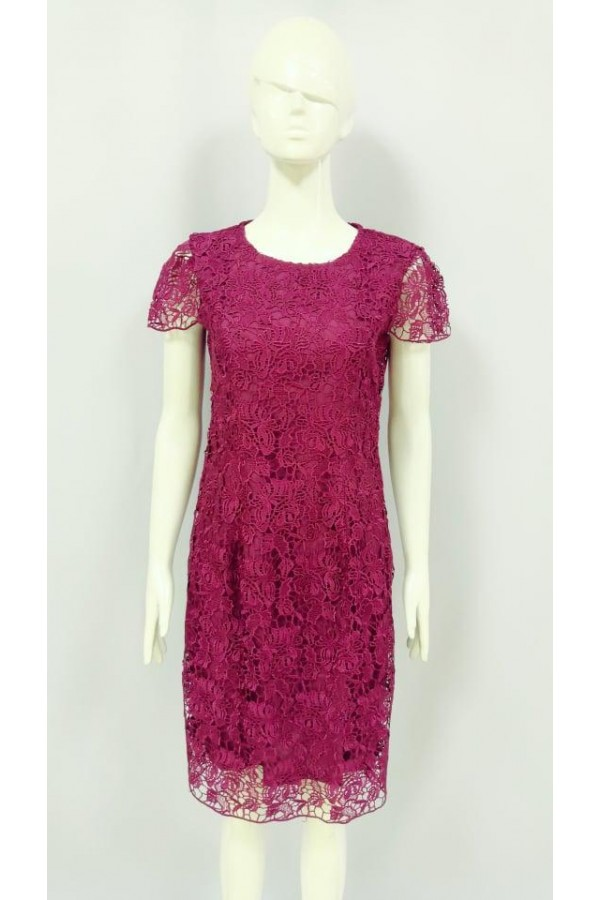 TAYLER SLIM FIT LACE DRESS 21882 MAROON