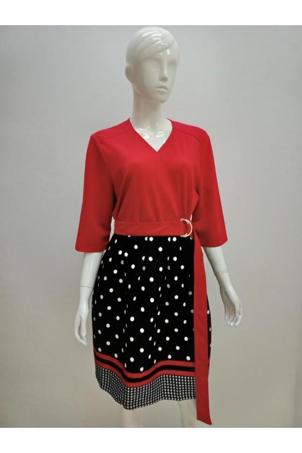 DRESS 18043 RED