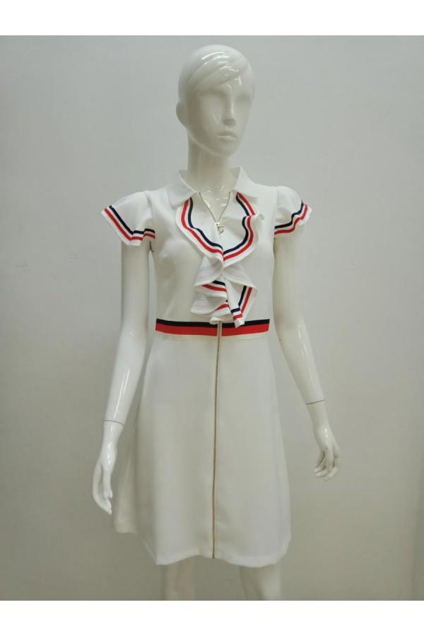 DRESS 21555 WHITE
