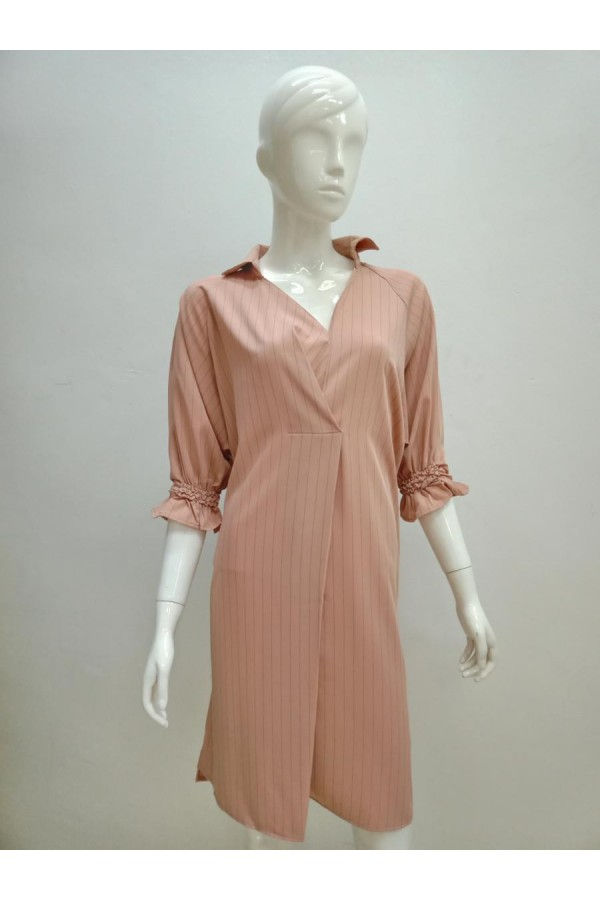 DRESS 0626 BROWN