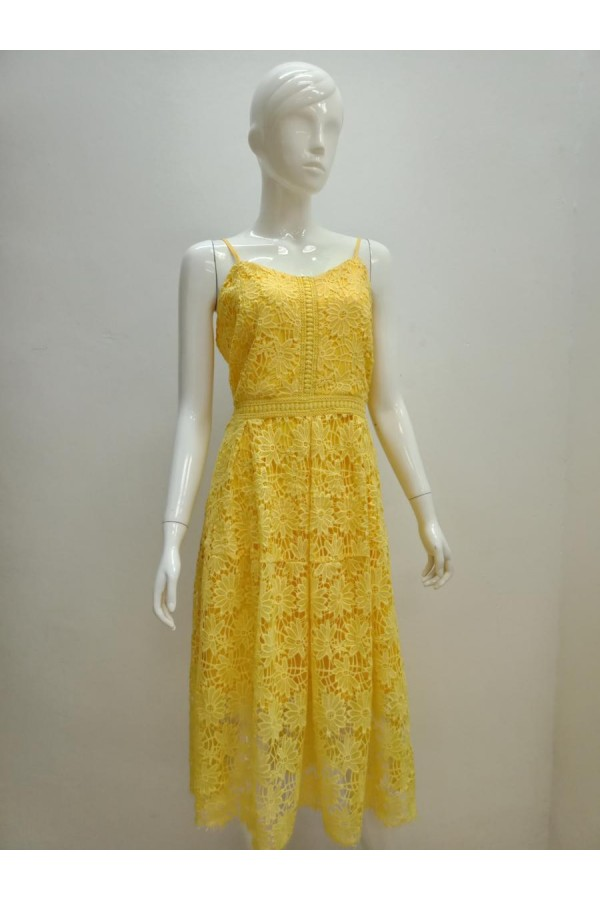 DRESS L065 YELLOW