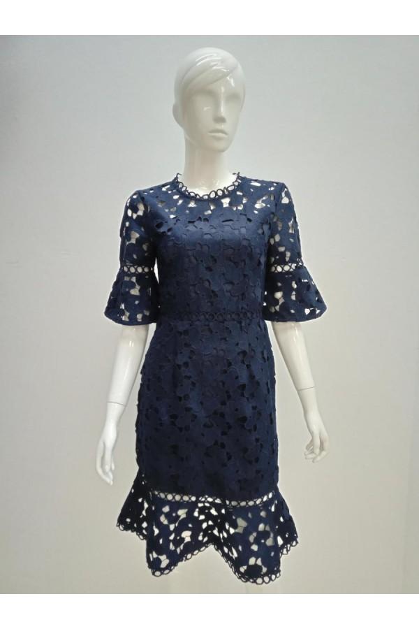 DRESS D19474 BLUE