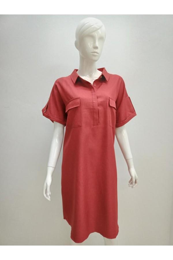 DRESS 001 MAROON